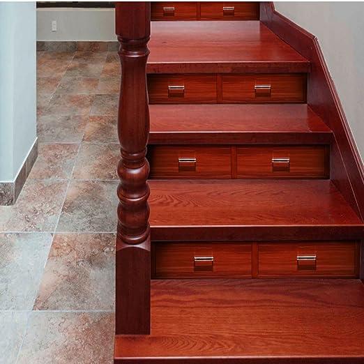 Imitación Azulejo Decoración De La Escalera Pegatinas PVC Papel Autoadhesivo Impermeable No Alice Escaleras Decoración Pegatinas,A-100 * 18cm*1: Amazon.es: Hogar