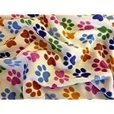 Paw Print Polar Fleece Fabric (Per Metre) by Such Textiles