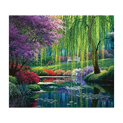Willow Pond 300 Piece Jigsaw Puzzle by SunsOut: Toys & Games