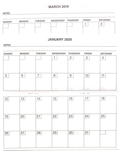 Amazon Com Checkbook Cover Sized 2 Year 2019 20 Calendar Planner