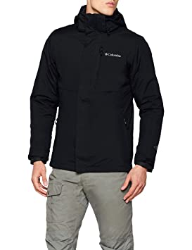 Columbia Element Blocker II Interchange Jacket Chaqueta Impermeable, Nailon, Hombre, Negro, Talla
