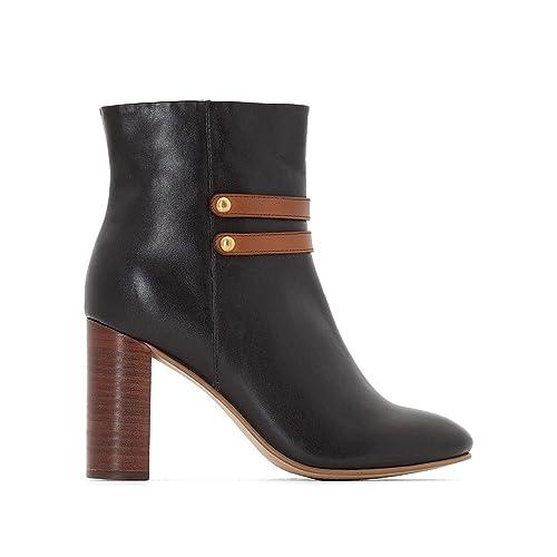 CASTALUNA Donna Boots in Pelle con Tacco A Pianta Larga 3845  Amazon.it   Scarpe e borse 26fc4fa7da3