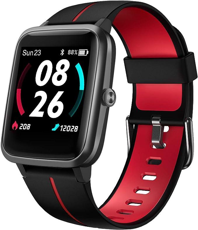 Lifebee Smartwatch Gps Für Herren Damen Fitnessuhr 5atm Wasserdicht Fitness Tracker 14 Sportmodi Mit Schwimmüberwachung Pulsuhren Schrittzähler Sportuhr Voll Touchscreen Smart Watch Elektronik
