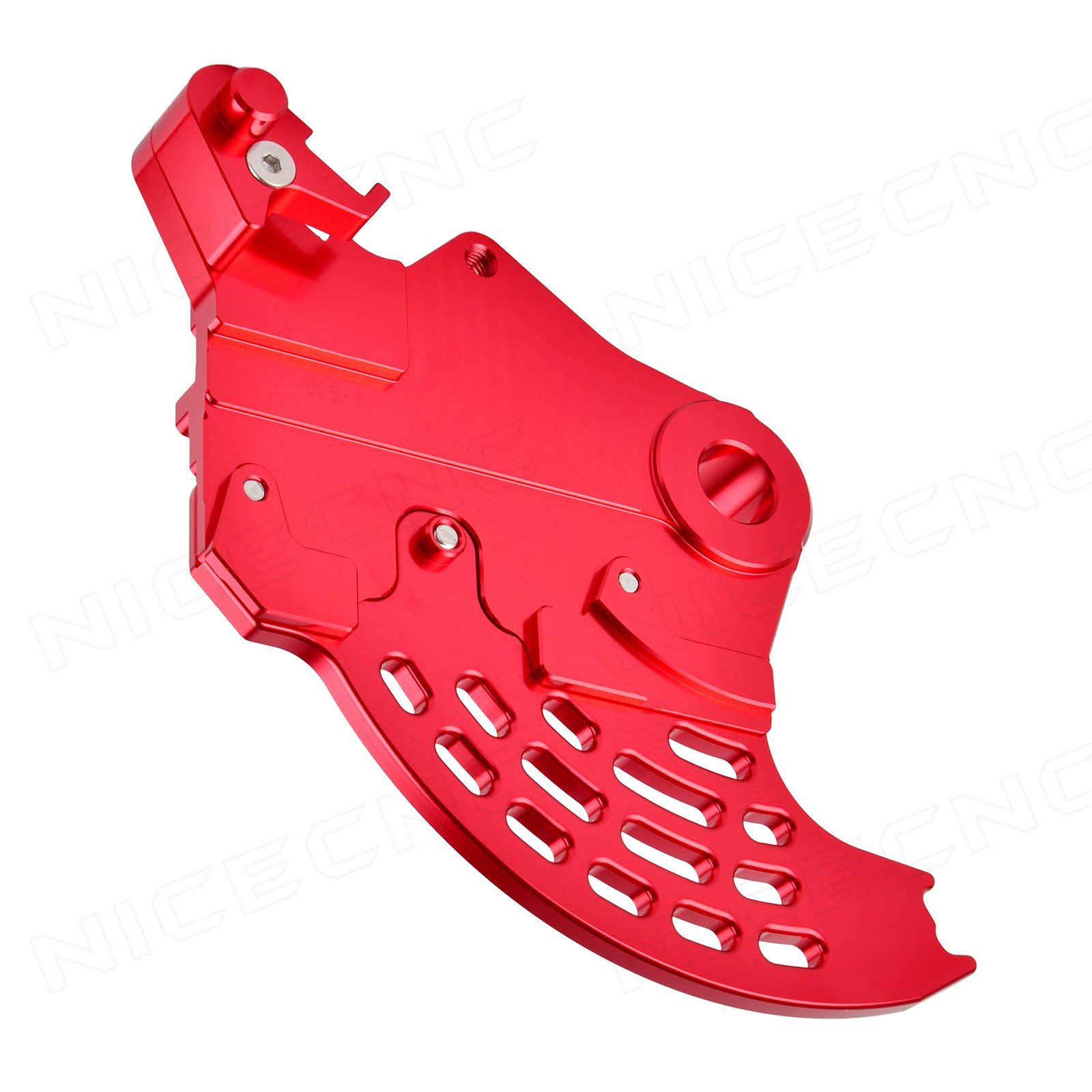 NICECNC Red Rear Brake Caliper Support With Brake Disc Guard for Beta RR/RS 2005-2018 Beta Xtrainer 300 2015 2016 2017 2018