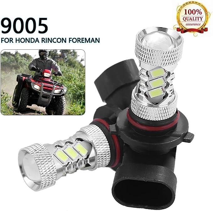 2x White Xenon Headlight Bulbs 35W ATV For Honda TRX 400 Foreman 1995 1996 1997