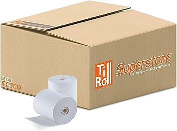 Rollos de papel para caja registradora, de Primatel, compatibles con Casio SE-G1, 57 x 40 mm, 20 rollos: Amazon.es: Oficina y papelería