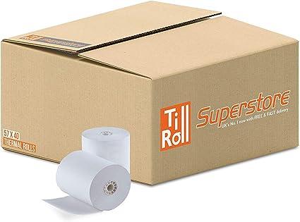 Rollos de papel para caja registradora, de Primatel, compatibles ...