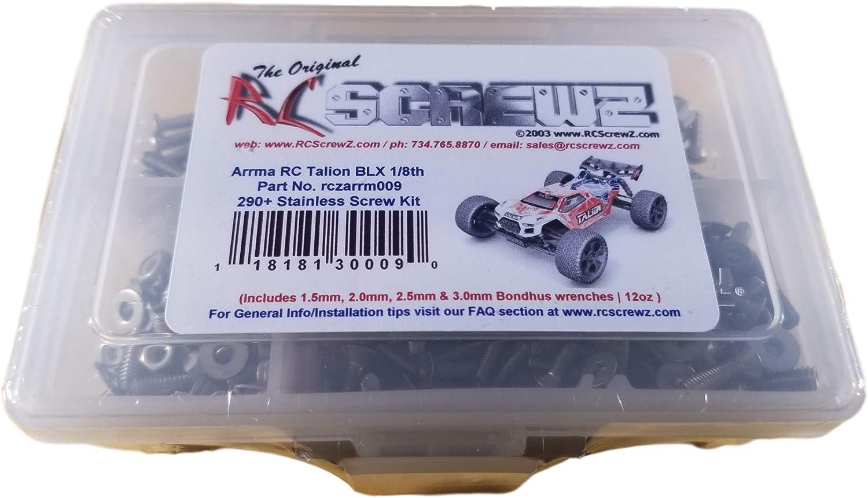 ARRM009 Arrma Talion BLX 1//8th Stainless Screw Kit RCScrewZ