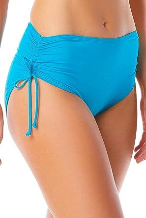 712f8e6ed361e1 Amazon.com: BEACH HOUSE SPORT Women's Hayden High Waisted Bikini Swimsuit  Bottom with Adjustable Side Ties: Clothing