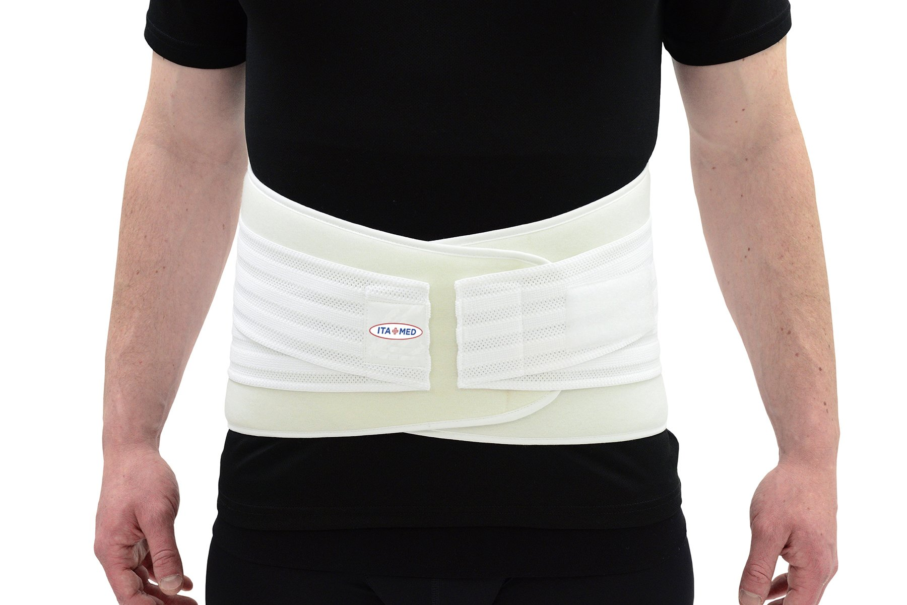 ITA-MED Elastic Duo Adjustable Lumbo-Sacral Back Support, Universal Size,White
