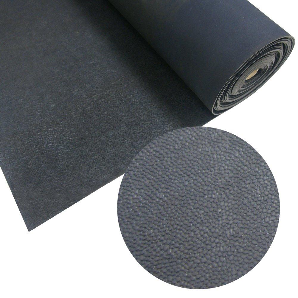 Rubber-Cal Tuff-N-Lastic Rubber Flooring Runners, 1/8-Inch x 4 x 7-Feet, Black