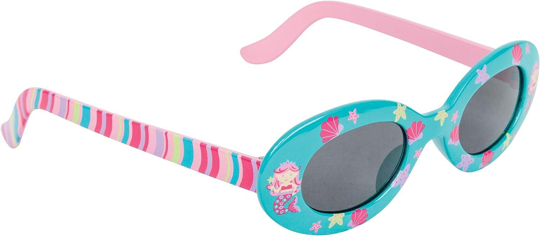 Children Kid Girl UV Protect Blue Mermaid Ariel Shell Shape Cute eye sunglasses