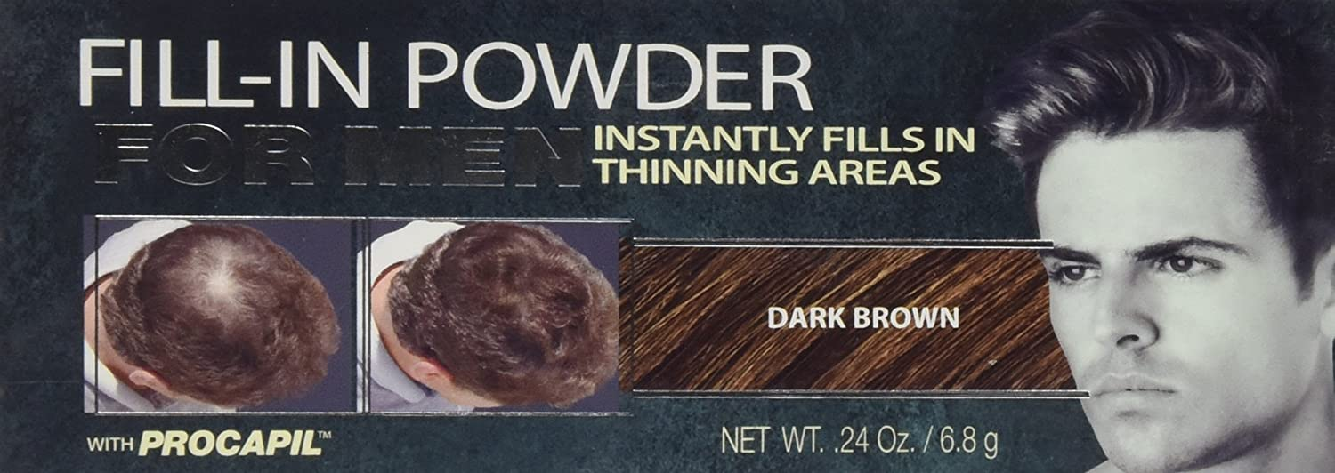 Cover Your Gray Men's Fill-In Powder Dark Brown Hair Color .24 oz. Daggett & Ramsdell LA-0196IG