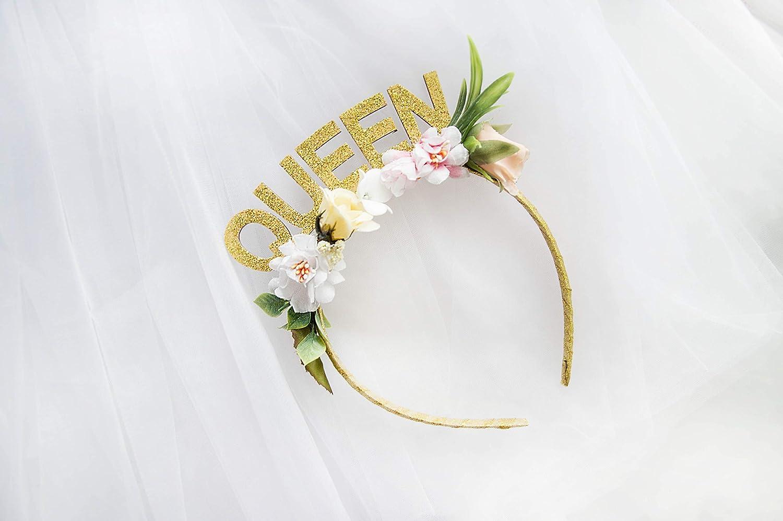 Queen Party headband Glitter Crown headband