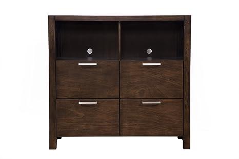 Amazon.com: Alpine Furniture 1600-11 Austin 4 Drawer TV ...