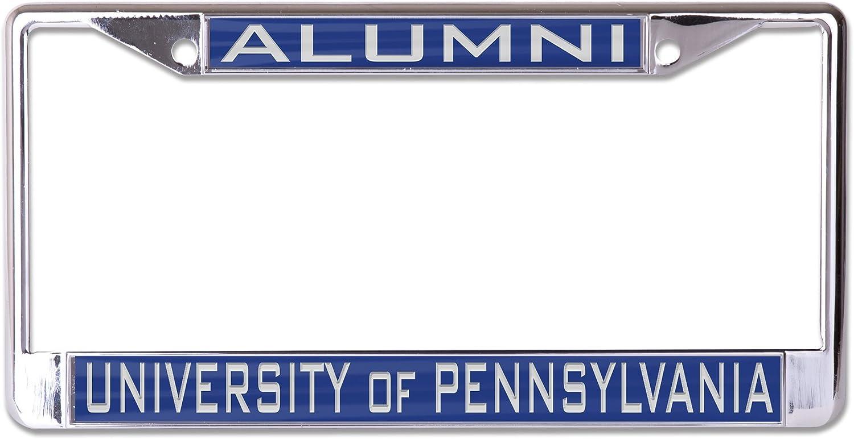 WinCraft NCAA Pennsylvania Quakers Alumni Inlaid Metal License Plate Frame 2-Tag Corners