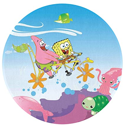 Amazon.com: MOANDJI Spongebob Undersea World Soft Circular ...