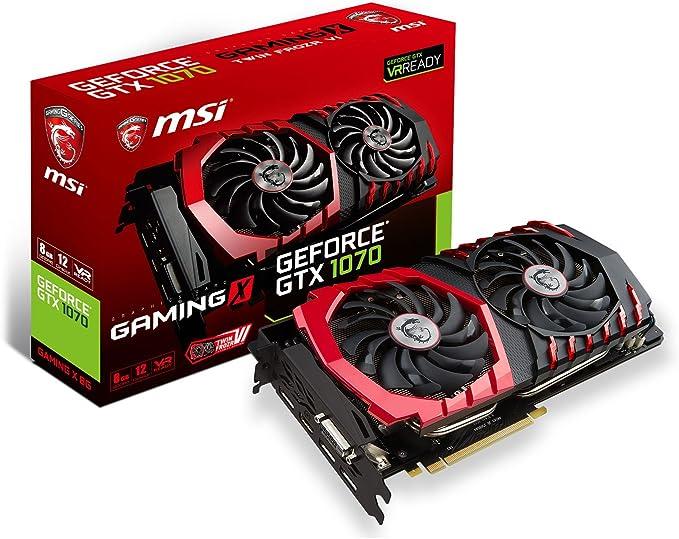 MSI GeForce GTX 1070 Gaming X 8G - Tarjeta gráfica (refrigeración ...