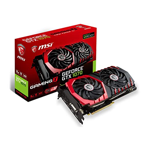 MSI GTX 1070 GAMING X 8G GeForce 8 GB GDDR5 VR Ready Graphics Card - Black