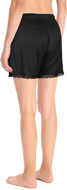 S-XL Schlafhose Femofit Pyjama-Shorts f/ür Damen 2 St/ück Schlafshorts Lounge-Shorts Bambus Damen