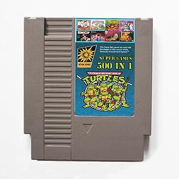 500 en 1 NES Cartucho de juego de Nintendo con Contra, Turtles Ninja, Super Mario, Double Dragon: Amazon.es: Electrónica
