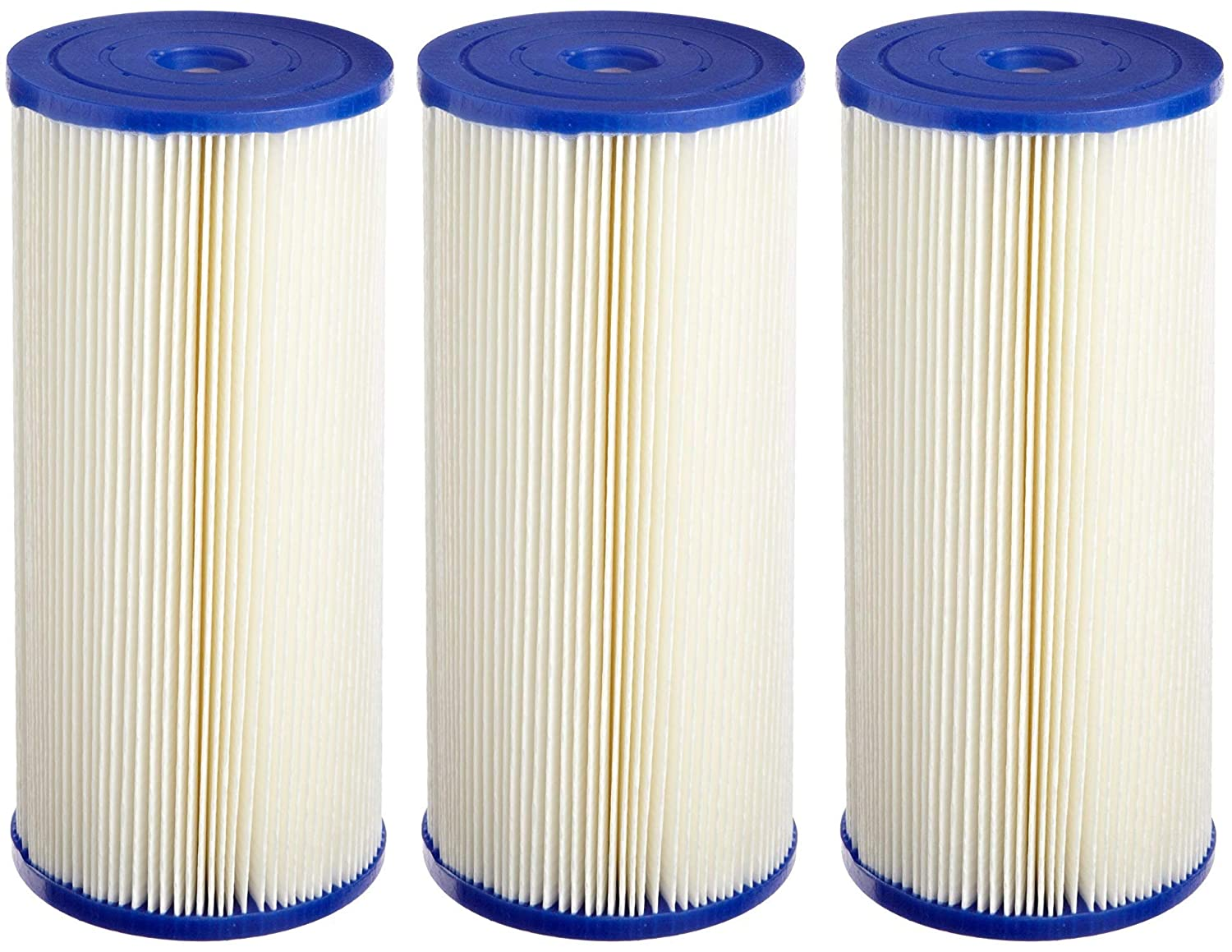 Pentek ECP20-BB Pleated Cellulose Polyester Filter Cartridge 9-3//4 x 4-1//2 Pack of 3 20 Microns
