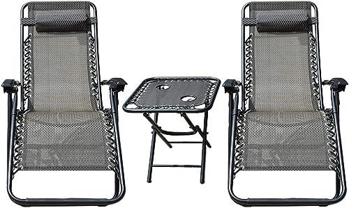 findmall Patio Lounge Chair Zero Gravity Chair 2 Pack Zero Gravity Recliner Zero Gravity Chairs Lounge Patio Chairs Zero Gravity Folding Chaise Lounge Chair