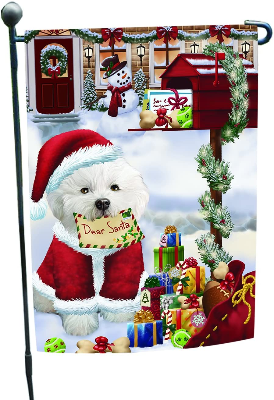 Bichon Dear Santa Letter It is very popular Christmas Fl Safety and trust Holiday Dog Garden Mailbox