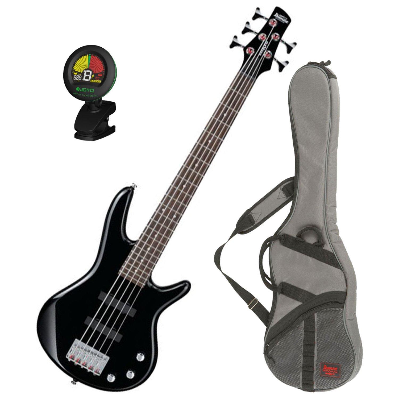 Ibanez GSRM25BK Black 5-String MIKRO Junior Bass Guitar w/ Free Ibanez Gig Bag and Tuner! GSRM25BK BUNDLE