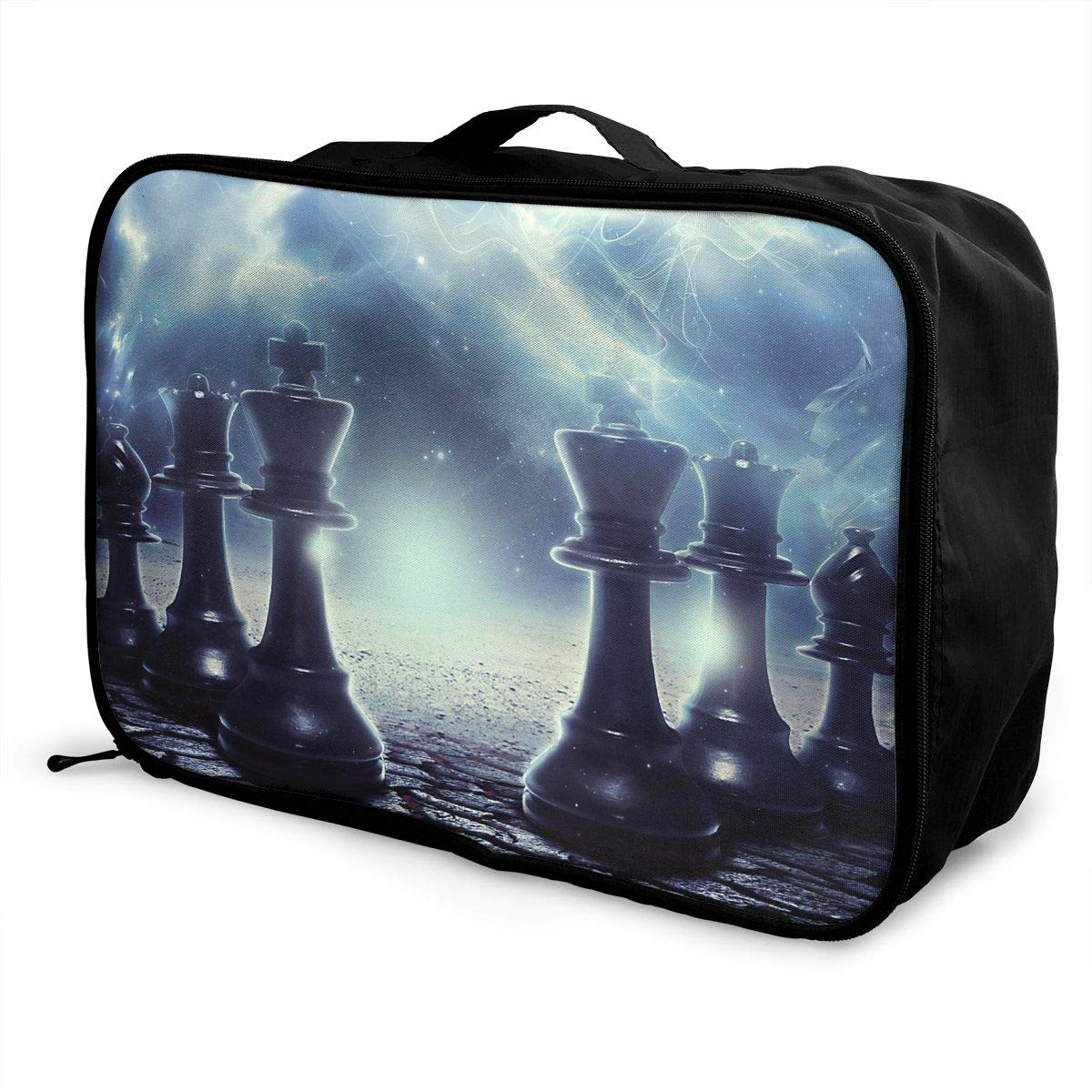 Travel Luggage Duffle Bag Lightweight Portable Handbag Chess Print Large Capacity Waterproof Foldable Storage Tote