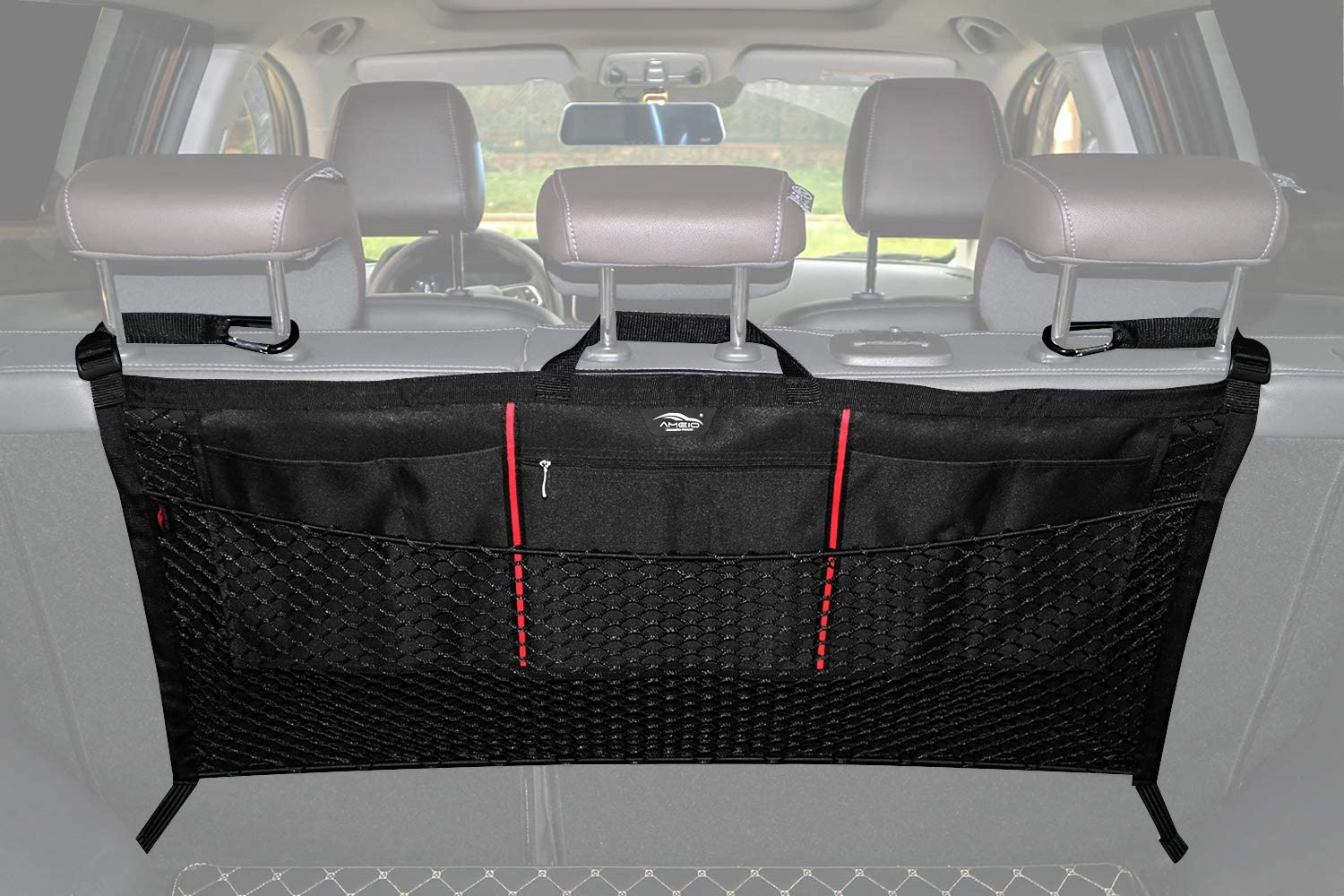 Organizing Luggage Backpack Cargo Storage Seat Heart Horse Storage Bag Mesh Luggage Net Net Bags Separate Front and Rear Seat Nets