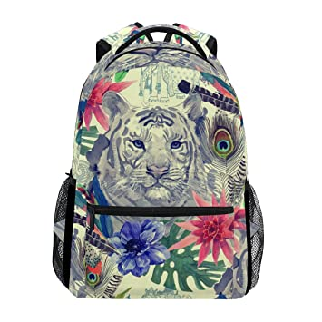 COOSUN Tiger patrón de la cabeza del estilo indio de la vendimia ocasional de la Escuela