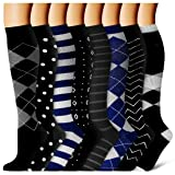 8 Pairs Compression Socks for Women and Men - Best