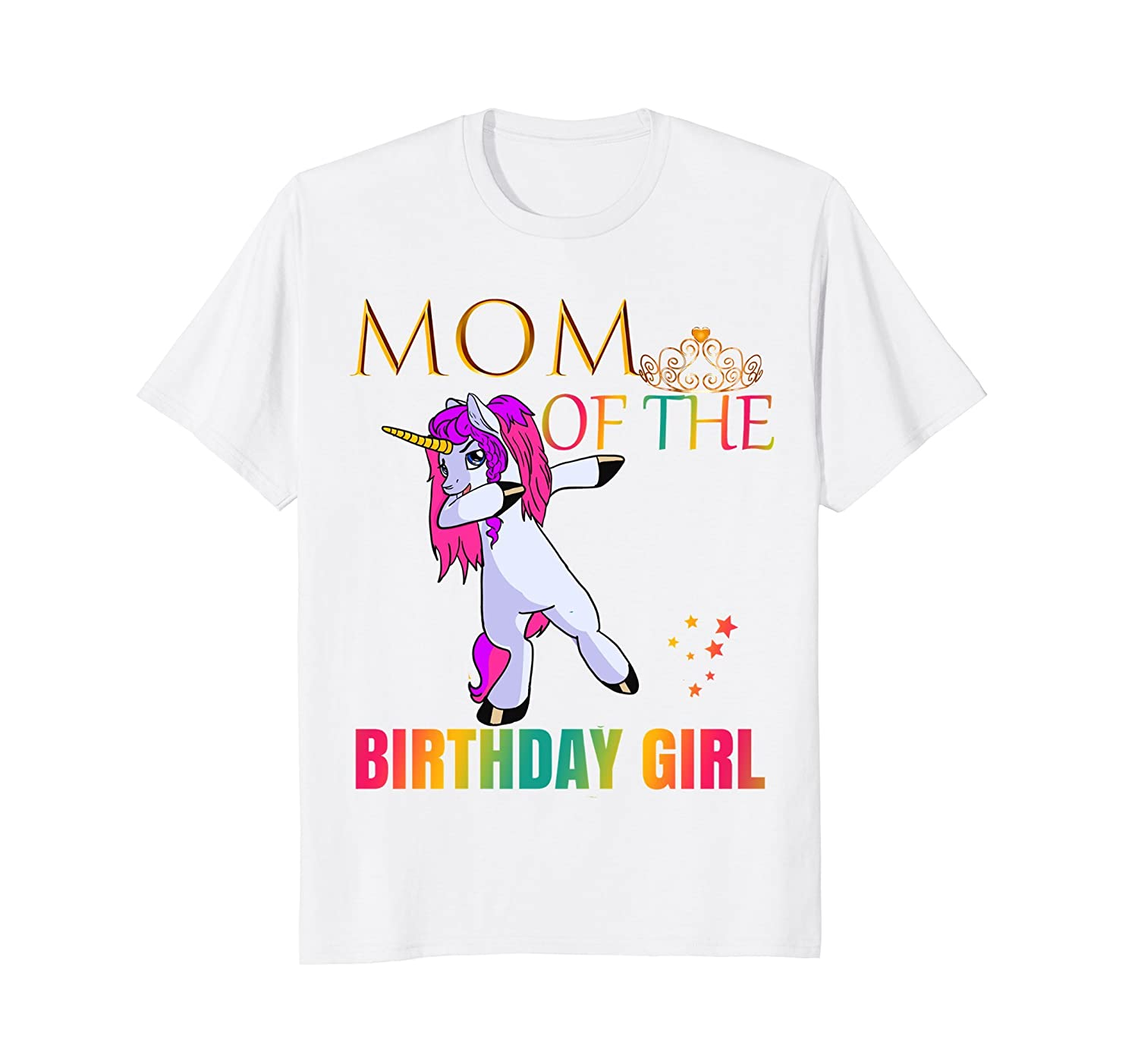 CUTE MOM Of Birthday Girl Dabbing Unicorn Party Shirt