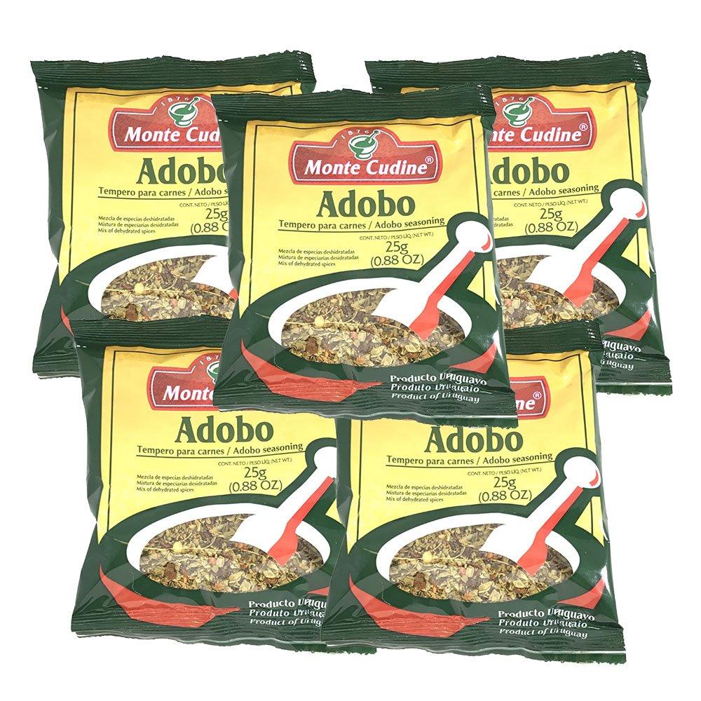 Amazon Com Monte Cudine Adobo Seasoning 25g 5 Pack Grocery Gourmet Food