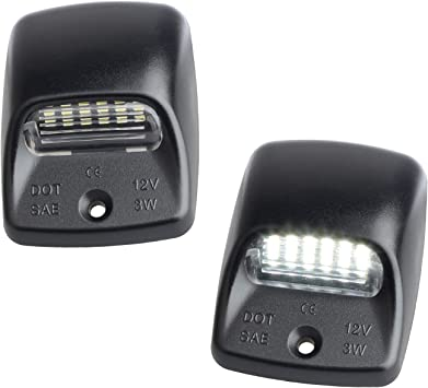 MOFORKIT LED License Plate Light Lamp Assembly For 2014-2019 Dodge Durango Pickup Truck 6000K Dimond White Pack of 2