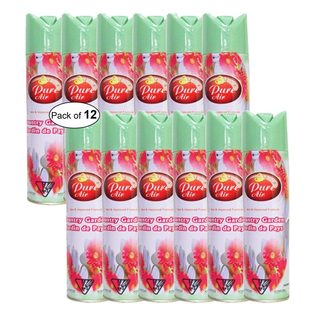 Pure Air- Country Garden Air Freshener (300ml) (Pack of 12) by Pure Air ® (Image #1)