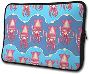 SWEET-YZ Laptop Sleeve Case Squid Pattern Notebook Computer Cover Bag Compatible 13-15 Inch Laptop