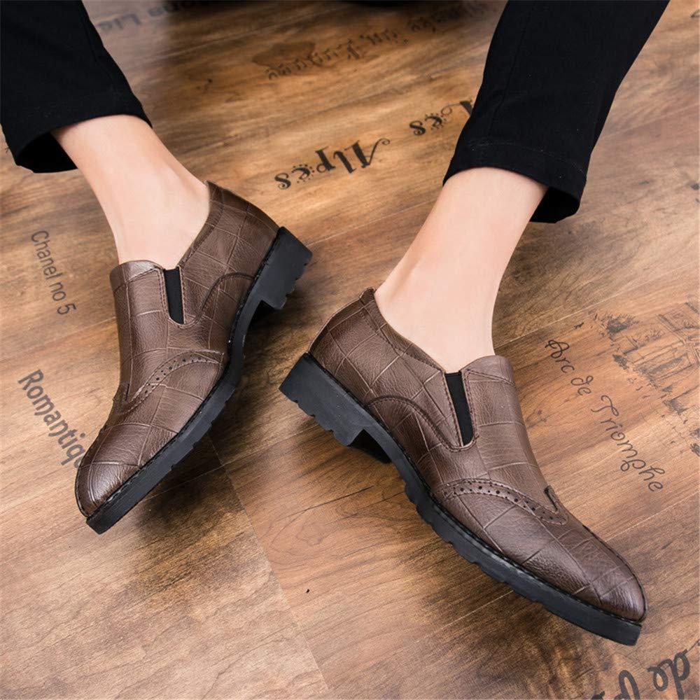 Moda Informal de Oxford Oxford Moda para Hombres Zapatos de Punta Suave y Transpirable de Bricolaje (Color : Marrón, tamaño : 42 EU): Amazon.es: Zapatos y ...
