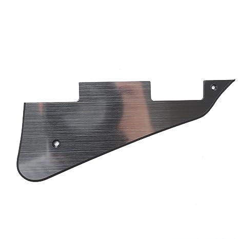 Musiclily Pickguard Golpeador para Gibson Les Paul Estilo Moderno,2 capas Aluminum Surface