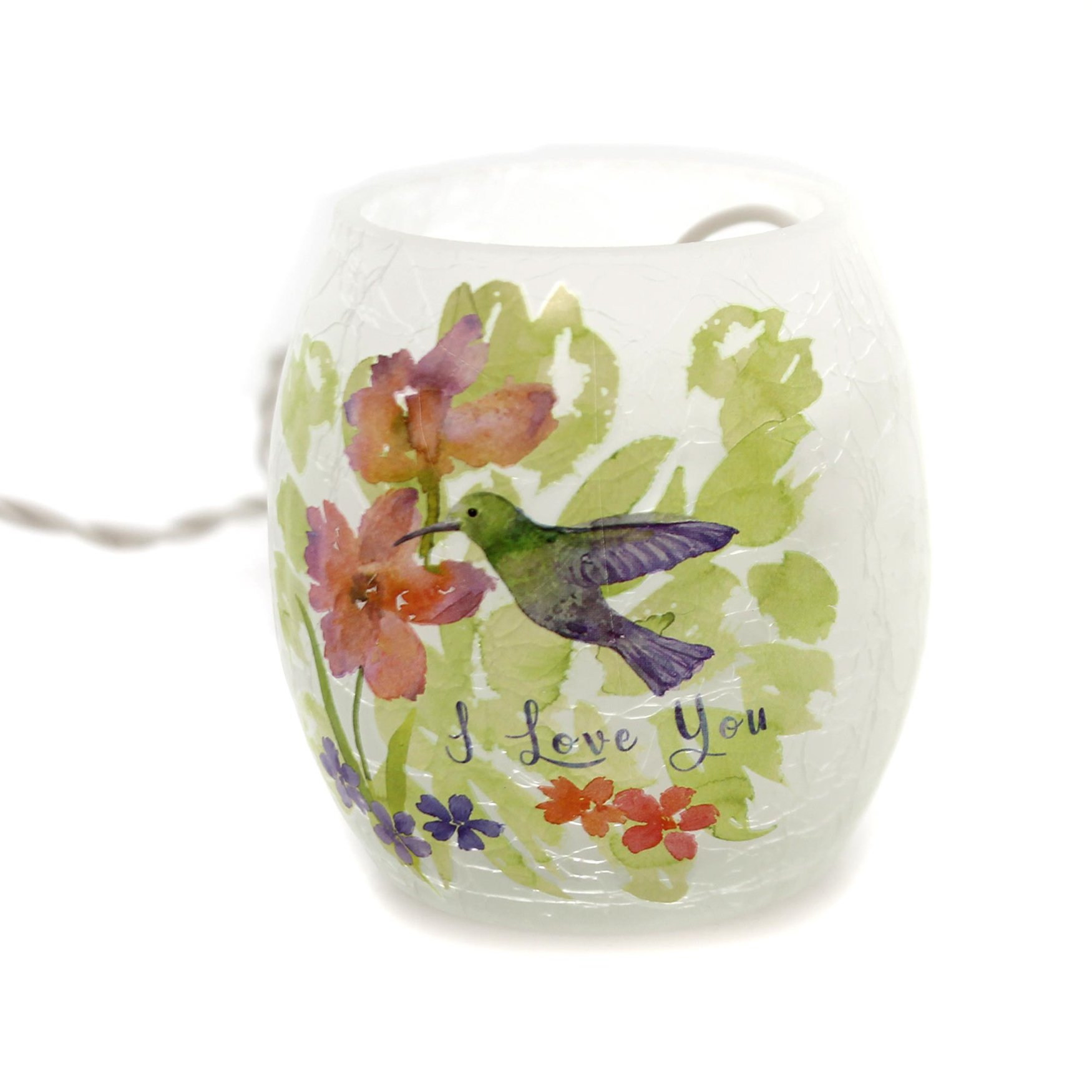 Stony Creek I LOVE YOU LIGHTED GLASS JAR Glass Mom Mothers Day Ply8252 A