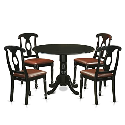 Amazon East West Furniture DLKE5 BLK LC 5 Piece Dining Table