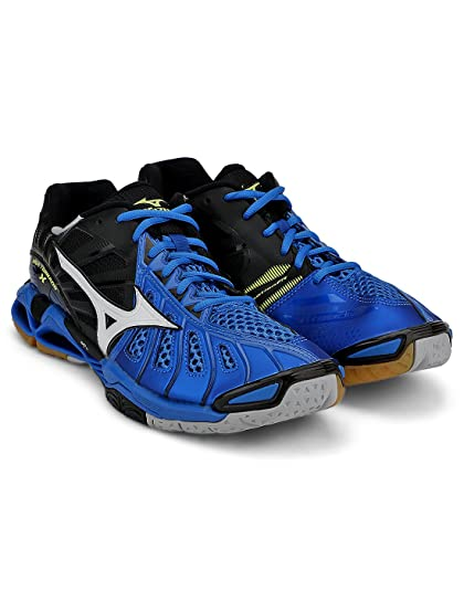 Mizuno Wave Tornado X Unisex Tennis Shoe (Directoire Blue   White ... e5255dc884