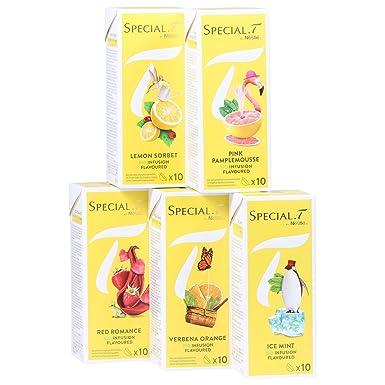 Special T original colección infusiones orgánicas 50x cápsulas de 5 tipos para máquinas de té Nestlé