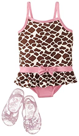 a825e938676d2 Amazon.com: Wippette Baby Girls' Giraffe with Jellys One Piece ...