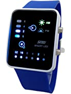 Technological Sense Binary Digital LED Waterproof Unisex Sport Wrist Watches White