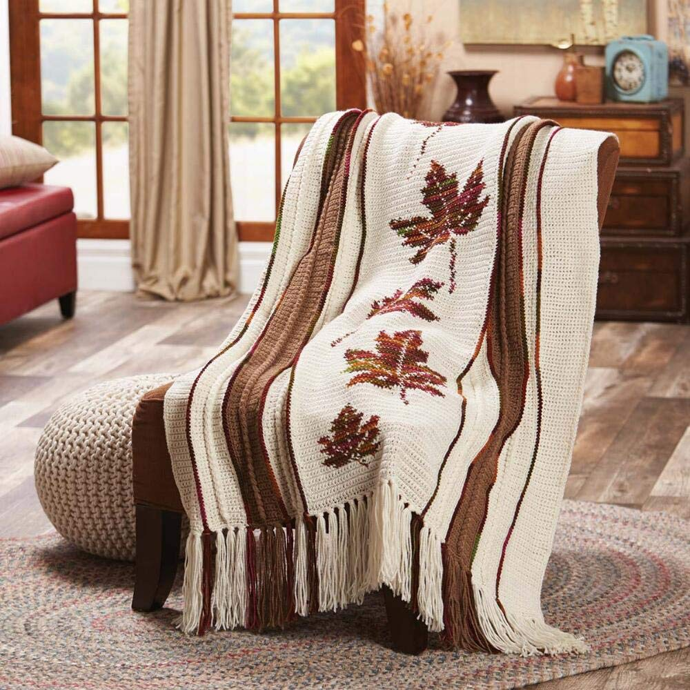 Herrschners® Autumn Leaves Afghan Kit