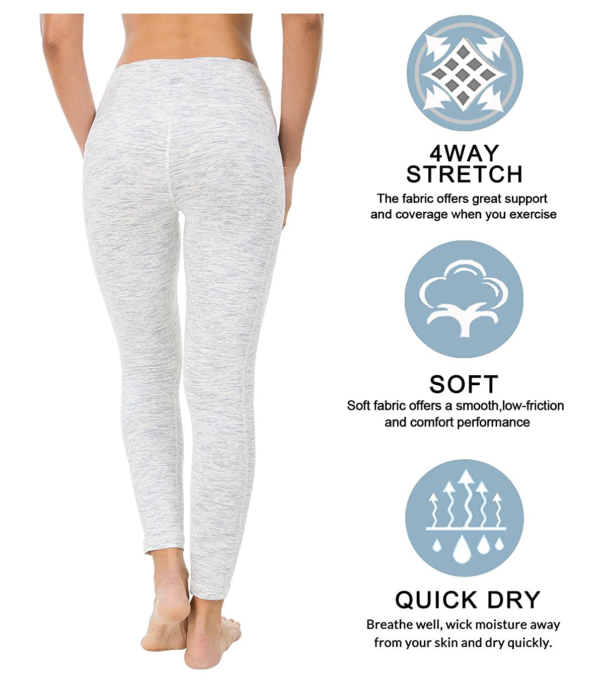 QUEENIEKE Leggings da Yoga da Donna Nine Pants Forza Calzamaglia da Ginnastica Flessibile A Vita Medio