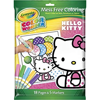 Crayola Crayon Wonder Hello Kitty 18 Page Coloring Pad And 5 Count Marker