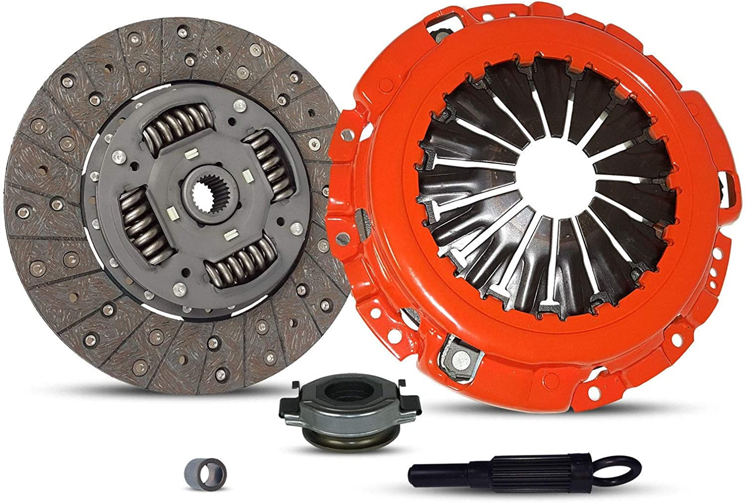 Clutch Kit works with Nissan Altima Maxima S Se Touring Se-R Sl Luxury Premium Base Gle Gxe Sedan 4-Door 2002-2006 3.5L 3498CC V6 GAS DOHC Naturally Aspirated Stage 1